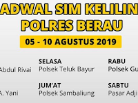 Jadwal SIM Keliling Polres Berau, 5-10 Agustus 2019