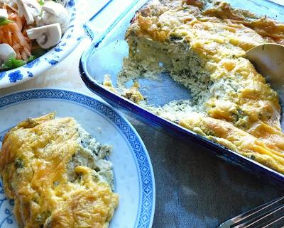 Sorrel & Ricotta Bread Pudding