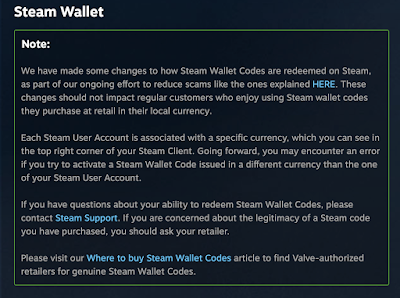 Steam Wallet currency exchange