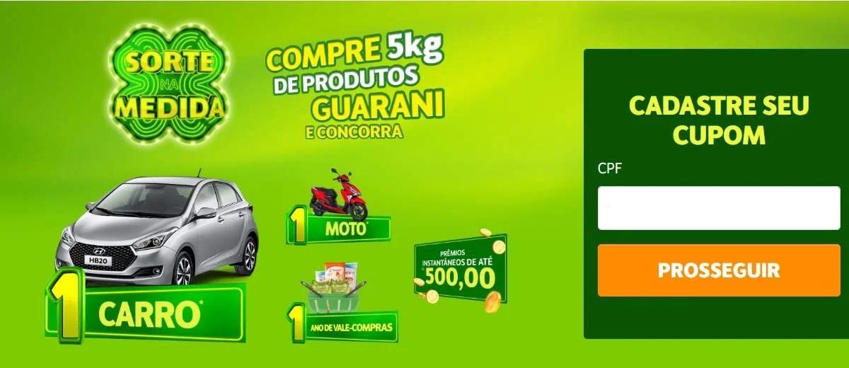 Promoção Açúcar Guarani 2020 Sorte na Medida - Carro, Moto, Vale-Compras e Mais