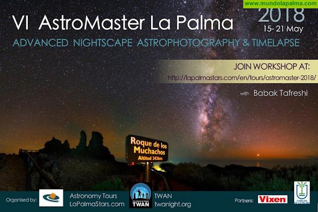 El taller para profesionales 'Astromaster' vuelve a situar a La Palma en el punto de mira internacional de la astrofotografía
