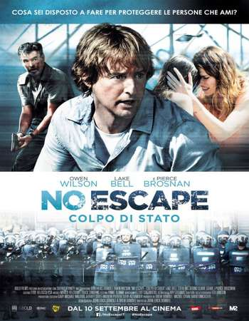 Poster Of No Escape 2015 ORG Dual Audio 300MB BRRip 480p ESubs Free Download Watch Online Worldfree4u