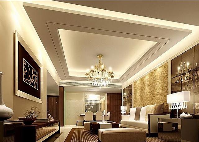 motif plafon ruang keluarga
