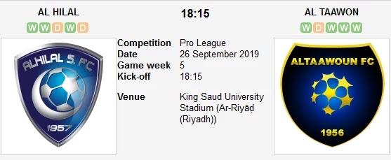 مشاهدة مباراة الهلال والتعاون بث مباشر 26 09 2019 الدوري السعودي