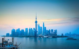 landmark reflection capital city skyscraper shanghai