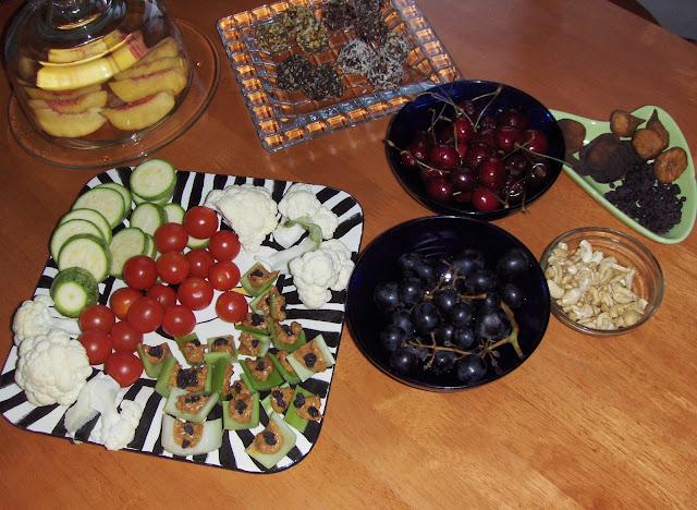 raw fruits and veggies
