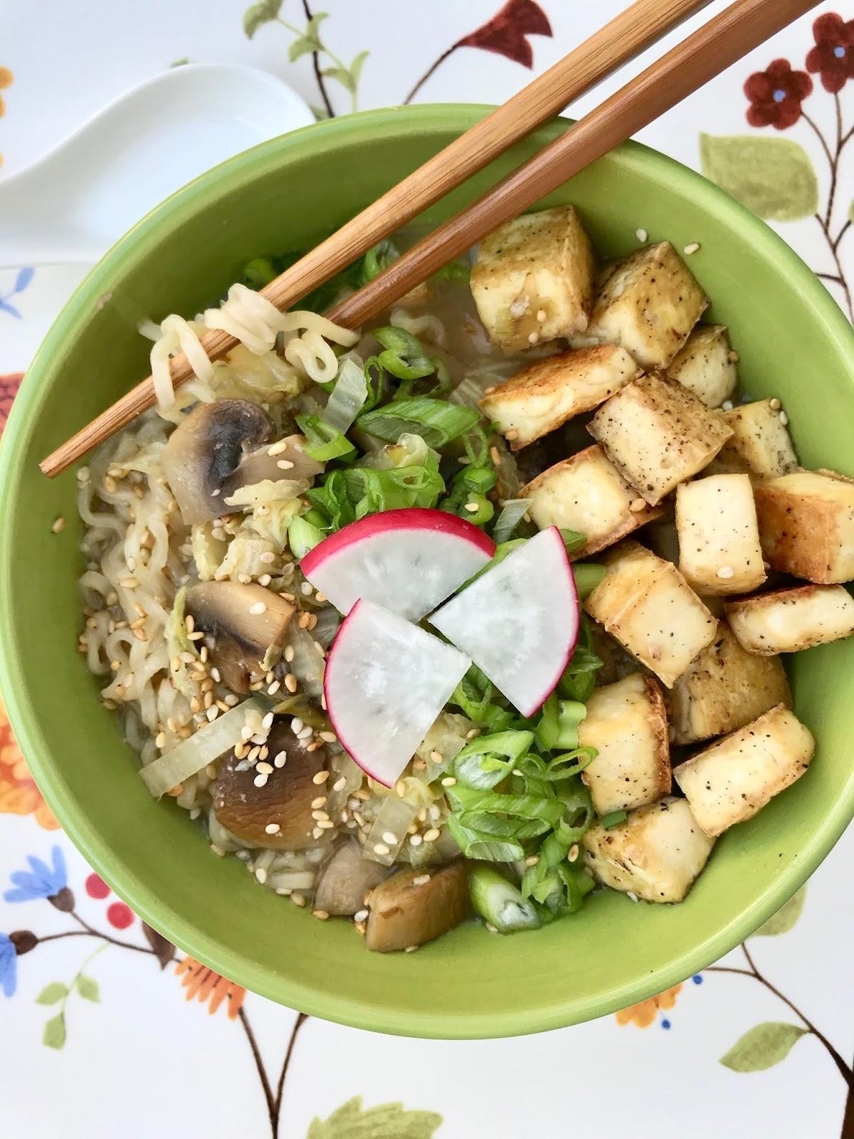 Tofu & Mushroom Miso Ramen Bowls
