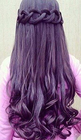 beauty purple hairstyle idea