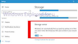 Storage sense in Windows 10 - Turn on or turn off storage sense in Windows 10 Creators update [How to]
