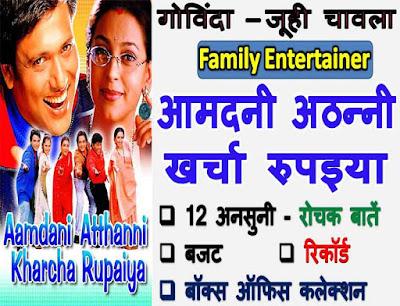 Aamdani Atthanni Kharcha Rupaiya trivia