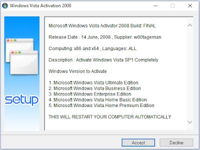 Ativador Windows Vista Activation 2008 Capa