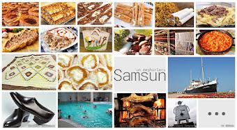 Samsun'un meşhur şeylerini gösteren resimlerden oluşan kolaj