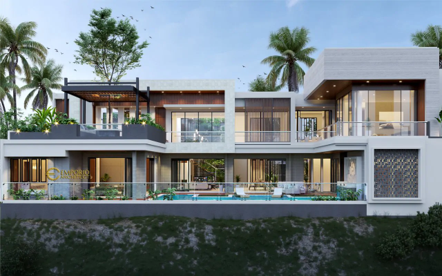 Desain Villa dan Ruko Modern Lantai 2, milik Bapak Yan