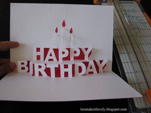 Let S Make It Lovely Happy Birthday Pop Up Card