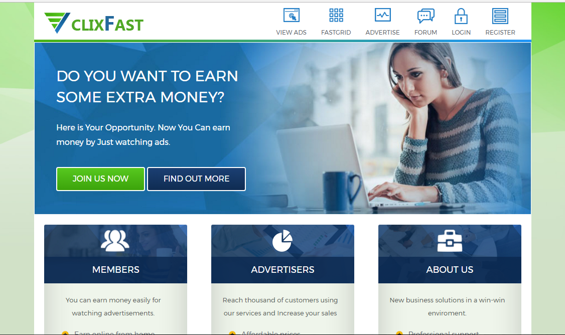 View Ads & Earn Money From ClixFast - newPTCdaily.review