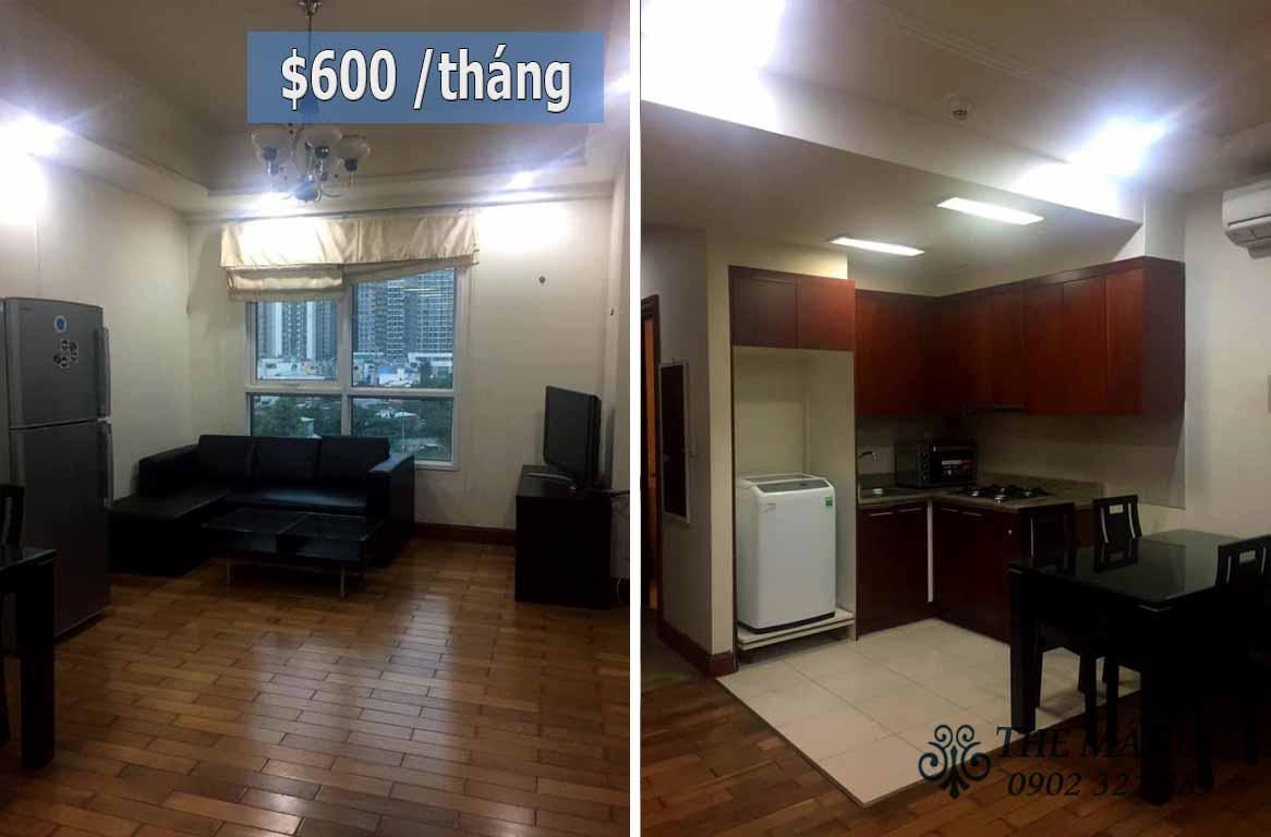 Căn hộ cho thuê giá rẻ The Manor 1 phòng ngủ giá chỉ 600$ mỗi tháng - pic 1