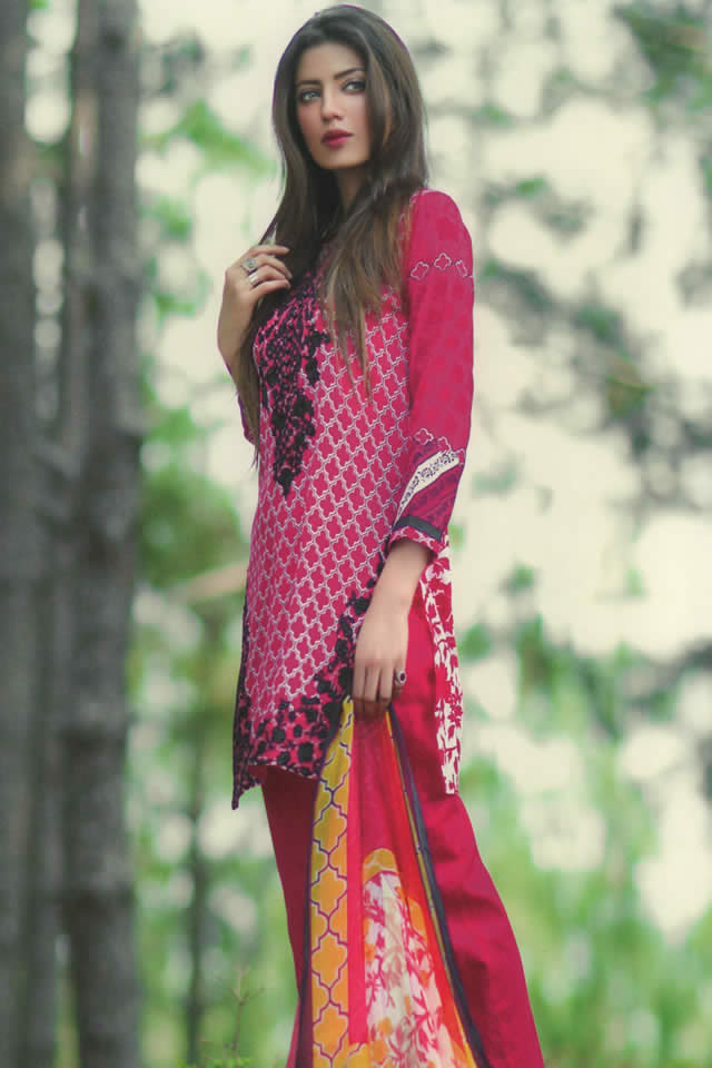 Mina Hassan Lawn Collection 2016