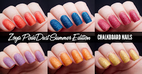 Chalkboard Nails: Zoya PixieDust Summer Edition