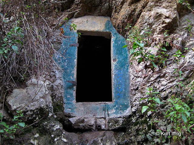 This tunnel can be found near the mouth of Millard Canyon, probably used as a water tunnel in the past.