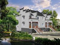 Tata letak rumah dan cad gambar perspektif, gambar rumah cad dengan contoh tampilan 3D