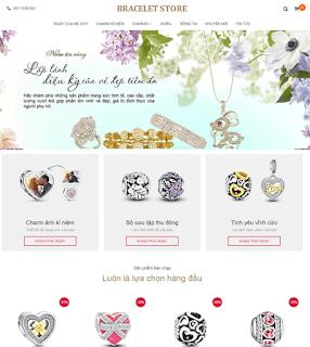 Giao diện Web bán hàng Trang sức - Theme Blogspot  - Blogspotdep.com