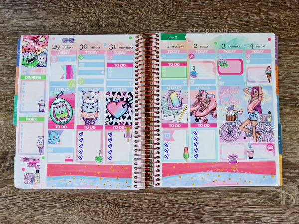 Erin Condren Life Planner - Glam Planner Mystery Kit - Weekly Planner Spread -  Tori's Pretty Things Blog