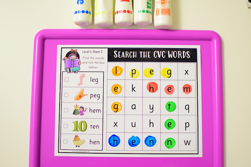 CVC Word Search for Literacy