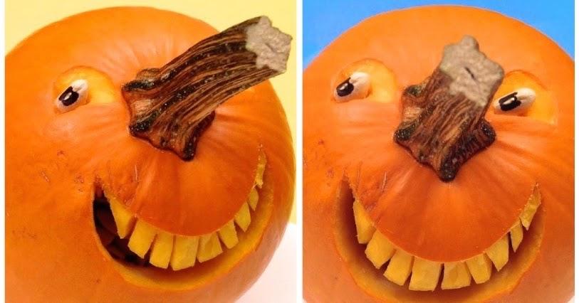 1 Sculpture De Fruit Et Légume: Comment Faire Une Citrouille Souriante Pour L'Halloween