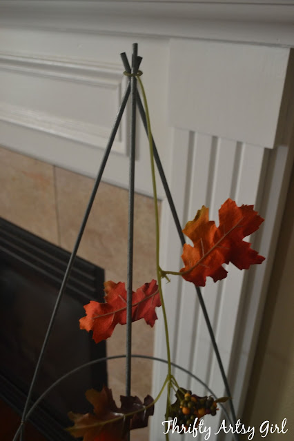 Thrifty Artsy Girl Easy Diy Fall Leaves Potted Topiary