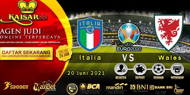 Prediksi Bola Terpercaya Piala EURO Italia vs Wales 20 Juni 2021