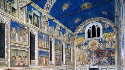 I COLORI DI CENNINO CENNINI : IL BLU della Cappella degli Scrovegni affrescata da Giotto a Padova.