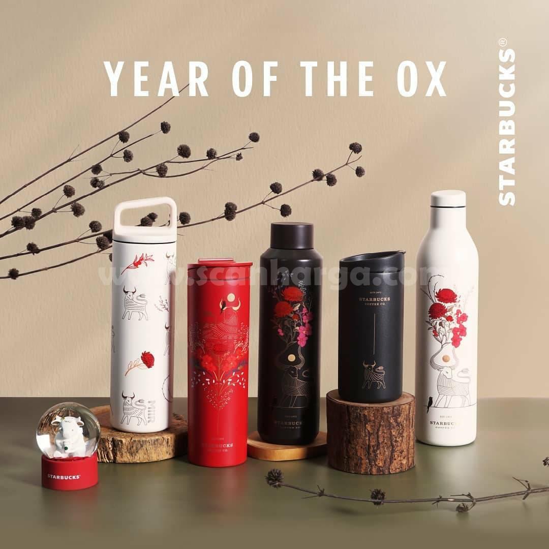 STARBUCKS Merchandise & Tumbler YEAR OF THE OX Koleksi Terbaru