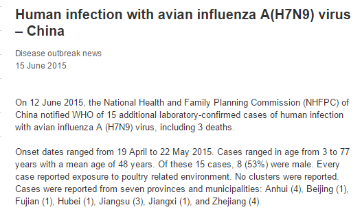 National Data Confirm Cases Of >> Vdu S Blog Avian Influenza A H7n9 Virus Case Data In