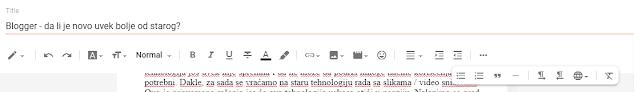 Blogger post editor toolbar
