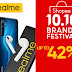 Up to 42% OFF on realme devices during the Shopee 10.10 Brand Festival Sale.