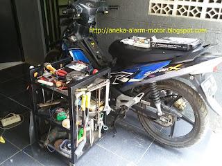 Cara pasang alarm motor remote pada Honda Supra 125 Karbu