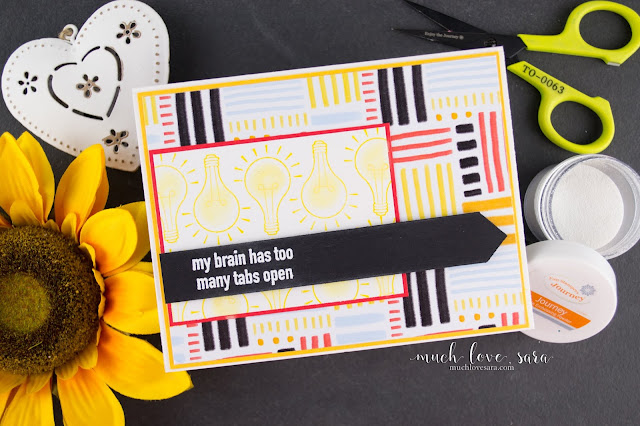 Created using the Fun Stampers Journey Geek Chic stamp set, this card is perfect for an apology card, or any occasion card.