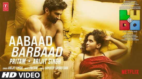 Aabaad Barbaad Lyrics Ludo   Arijit Singh