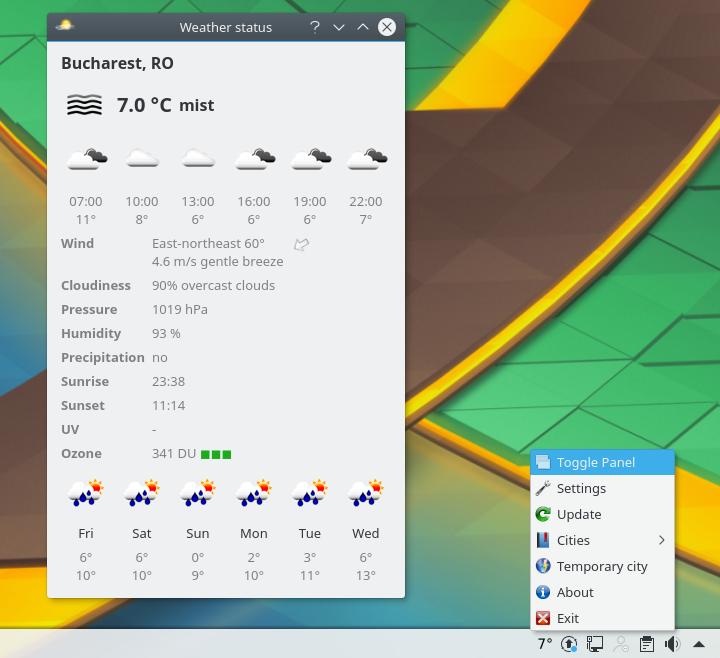 Meteo Qt Is A Nice Qt5 Weather Tray Application ~ Web Upd8: Ubuntu