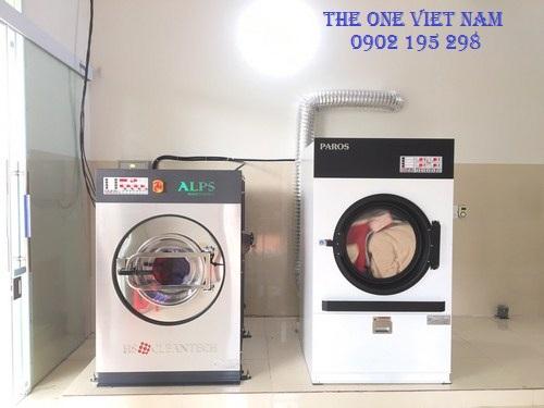 Lắp đặt máy giặt công nghiệp cho tiệm giặt tại Bắc Giang