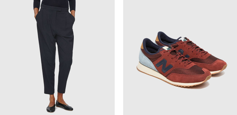 COS trousers // NEW BALANCE trainers