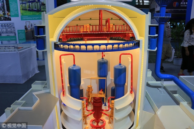 A model of Hualong One, China's self-developed reactor design [File photo: VCG]