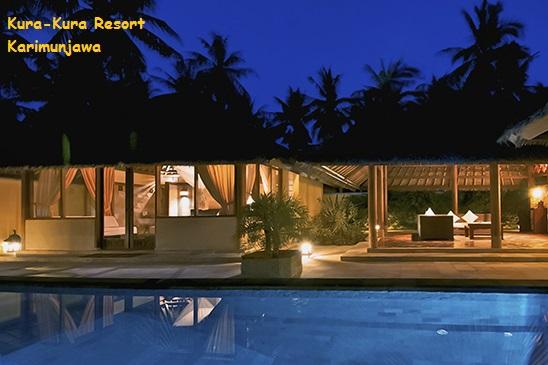 suasana hotel villa kura kura resort karimunjawa