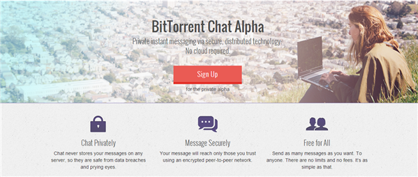 BitTorrent enters the field of the protection of privacy: the draft secure messaging has been announced. For now, only an alpha version was launched to allow some users picked to test the service.