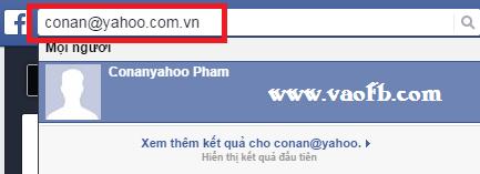 Tìm kiếm bạn bè trên Facebook qua email