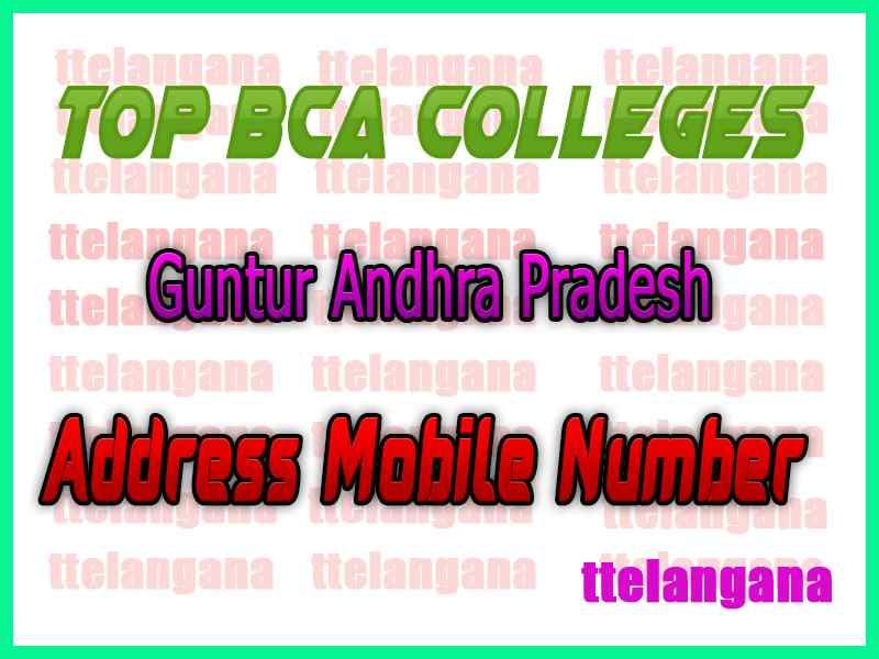 Top BCA Colleges in Guntur Andhra Pradesh