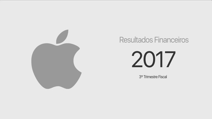 Apple - resultados financeiros