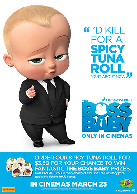 Sushi Train Australia Pty Ltd: The Boss Baby Movie Promotion