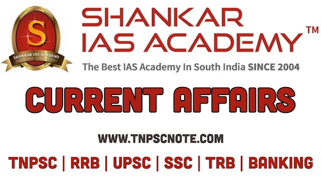 Current Affairs from Shankar IAS Academy for the date of 29 January 2020