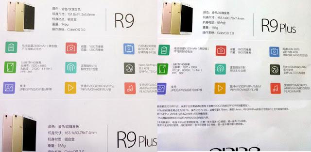 Spesifikasi dan Harga Oppo R9 dan Oppo R9 Plus Terungkap!